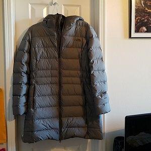 North Face Gray Puffer Coat